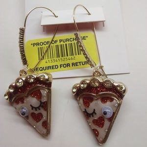 Betsey Johnson New Cherry Pie Earrings
